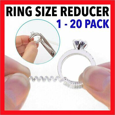 1~20X  Ring size reducers Spiral Invisible Snugs Guard RESIZER ADJUSTERS TOOLSVW