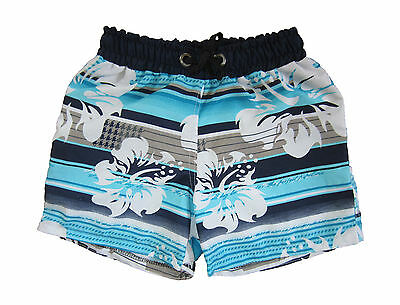 Kids Shorts Board Shorts Hawai White Flowers Boys Girls Swimming Summer Defect