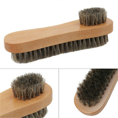 Bristle  Hair Shoe Brush Double-Sided Vamp Cleaning Tool Shoes Protector Brush V