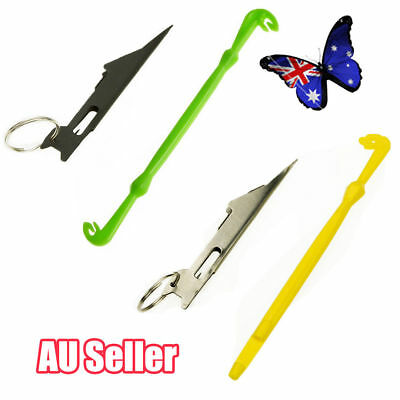 2 Pcs Tie Fast Nail Knot Tying Tool & Loop Tyer Hook Tier for Fly Fishing Lin VW