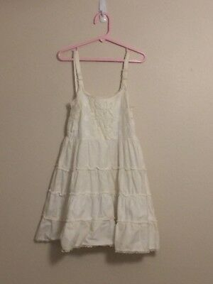 """Vintage Girl's """"A STONES WEAR ORIGINAL"""" White Full Slip with Embroidered Top"""