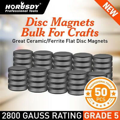 50Pc Super Strong Disc Magnets Round Flat Magnetic Rare-Earth 18mm Home Office