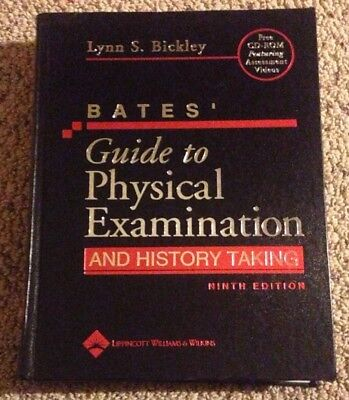 BATES Guide to Physical Exam and History Taking Bickley CD Included Hardcover