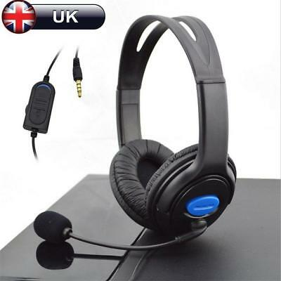 3.5mm Gaming Headset MIC Stereo Headphones for PC Mac Laptop PS4 PS3 Xbox One UK
