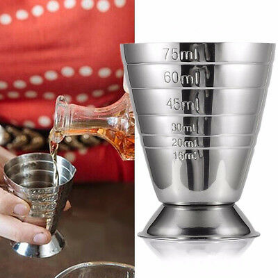 75ml Stainless Steel Wine Cup Measure Tool Bar Jigger Measuring Mug Cup Salable