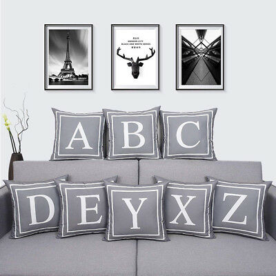 Gray English Letter Throw Pillow Case Cushion Cover Home Car Decor Gift Salable
