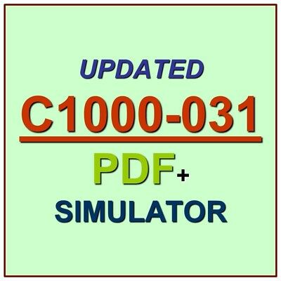 Latest IBM C1000-031 Verified Practice Test Exam QA SIM PDF+Simulator