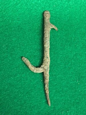 Ancient Roman Artifacts, Bronze Hook, Circa 2nd-3rd Century, AD