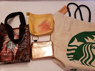 Collectible Starbucks totes (3)