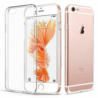 For New Apple iPhone 6S/6 TPU Gel Jelly Skin Case / Cover Crystal Clear