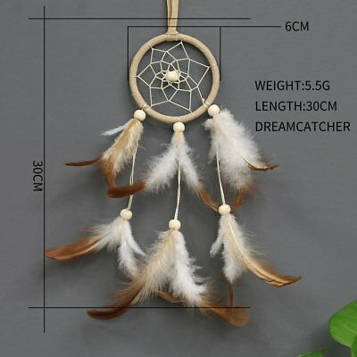 Sale Dream Catcher With feathers Wall Hanging Decoration Decor Bead Ornament#US