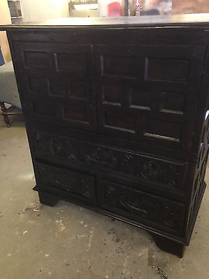 17th Century Spanish Paneled Cabinet