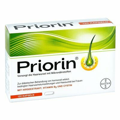 Bayer Priorin 120 Capsules Hair Growth Loss Treatment