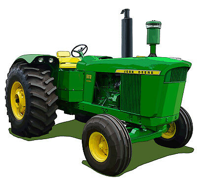 John Deere Model 5010 canvas art print by Richard Browne farm tractor