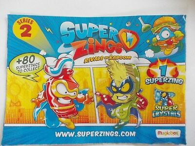 SUPERZINGS Rivals of Kaboom Series 2- inc SILVER -CRYSTAL-  GOLD   FREE POSTAGE