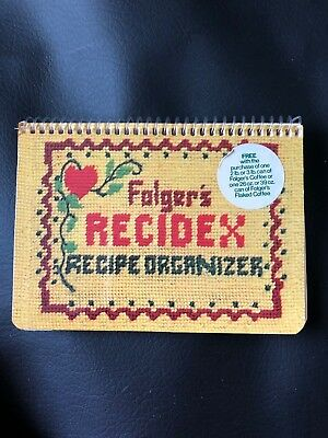 Vintage Folgers's Recidex Recipe Organizer