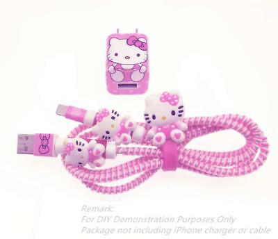 Hello Kitty Phone Charger Lightening Cable USB iPhone 4 5 6 7 Pink Girls