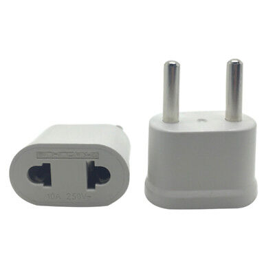 US USA To EU Europe EURO AC Power Wall Plug Travel Charger Adapter ConverterAUC