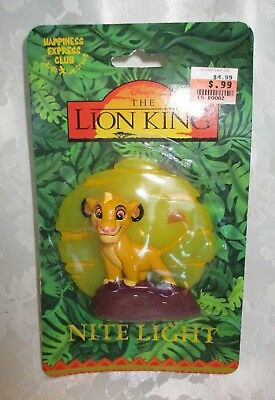DISNEY'S THE LION KING NITE LIGHT NOS 1990's Happiness Express NISP untested