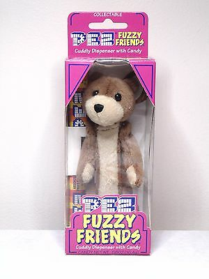 Pez Fuzzy Friends Buddy Bear Cuddy Dispenser With Backpack Clip