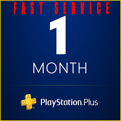 PSN 1 Month PlayStation PS Plus PS4-PS3 -Vita ( NO CODE ) **FAST SERVICE**