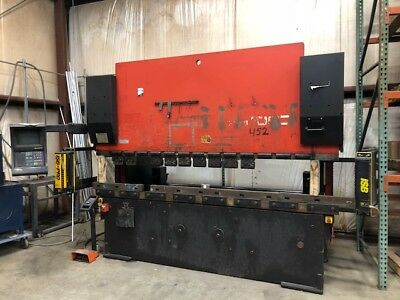 Amada HFBO 10' CNC Press Brake w / 8 axis Back Gauge