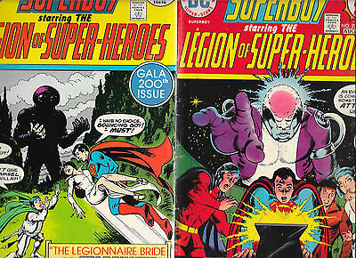 Lot Of 10 Superboy And The Legion Of Super-Heroes #197-#215 VG+/F FZ