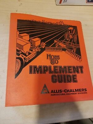 Allis Chalmers How To Implement guide Dealer's Brochure tractor 3 ring binder