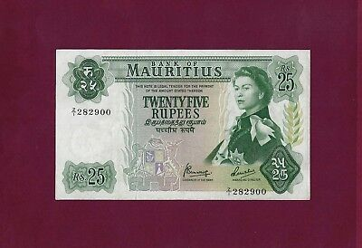 Mauritius 25 Rupees Nd 1967 P-32 Xf