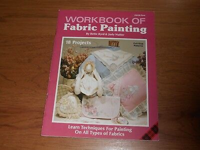 Plaid Workbook Of Fabric Painting  # 8436