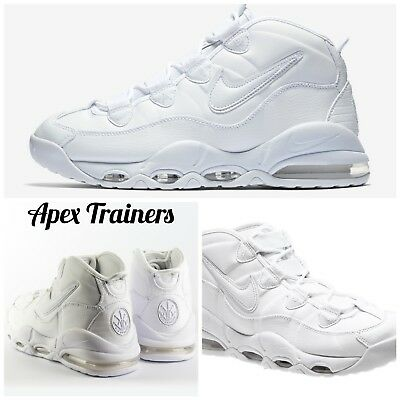 on sale 422cf 17897 Nike Air Max Uptempo 95 Triple White Trainers Sneakers UK 8 EUR 42.5