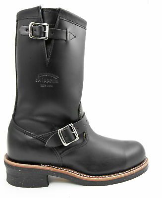 Chippewa 1901M03 Black Leather Engineer Motorcycle Steel Toe Boot Made in USA