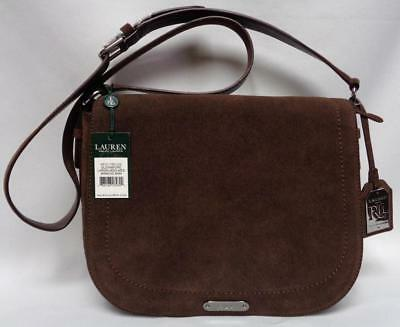 LRL Ralph Lauren Glennmore Larisa Suede Messenger Bag Med Burnished Brown   278 c918b2dd467a9