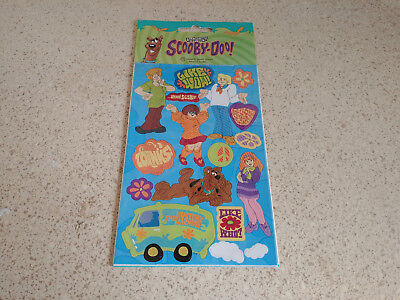 Scooby-Doo Characters & Phrases Stickers 2 sheets SandyLion NIP 1998