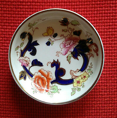 "Antique Mason's Mandalay Ironstone Pin dish Plate 3"" Hand Painted BEAUTIFUL"