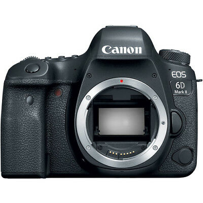 Canon EOS 6D Mark II 26.2MP Digital SLR Camera - Black (Body Only) (1897C002)