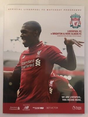 2018/19 - LIVERPOOL v BRIGHTON Programme (25th August 2018)
