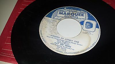 """KAY CEE JONES Awaken My Lonely One / Small Town MARQUEE 1033 45 7"""""""