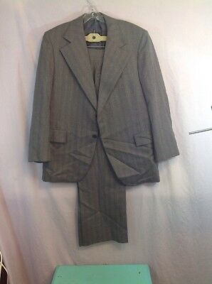 VINTAGE 1970'S SUIT DISCO APROX SIZE 44 POLYESTER 70's leisure striped