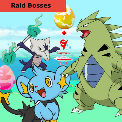 Pokemon Go 5 Raid Boss Account Golem Tyranitar Shinx Machamp Marowak Rhydon MORE