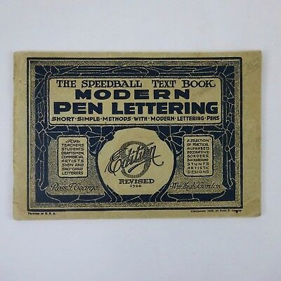 The Speedball Text Book Modren Pen Lettering 9th Edition 1926