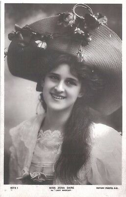 Vintage Postcard Zena Dare Actress Rotary Photograph  c.1900s
