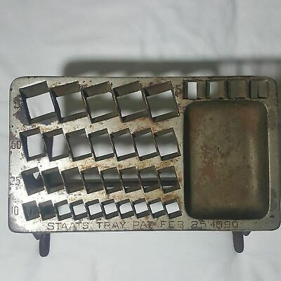 Antique 1890 Staats Tray Coin Changer Tray and Stand