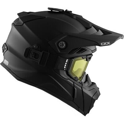CKX TITAN Air Flow Helmet Snow w/ 210 GOGGLES Mat Black