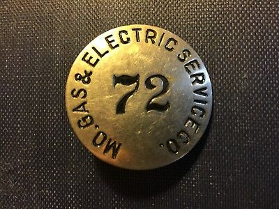 Vintage Mo. Missouri Gas & Electric Service Co. Employee Metal Company Badge