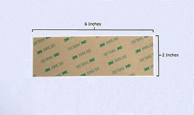 "3M 9495le Double Sided VHB Tape, 300 LSE, 2""x6"" Strips, Waterproof, UV Resistant"