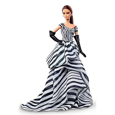 Black and White Chiffon Ball Gown Barbie NRFB in Shipper Platinum Label