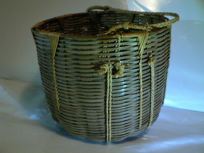 Japanese Chinese Asian BASKET Antique Vintage Woven Asian Estate