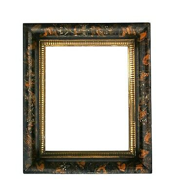Antique Sponge Painted Faux Marble Picture Frame (1 of 2) c.1880