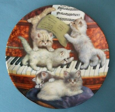 Cats, Making Music By Jurgen Scholz, #1565A, Porcelain Plate Limited